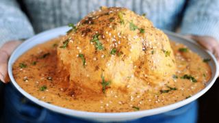 Instant Pot Whole Roasted Cauliflower in Indian Masala