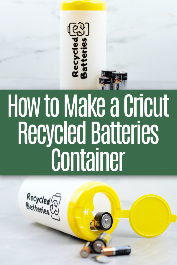 college of recycled batteries container